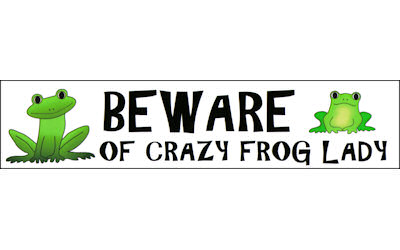 Turtle Max Reptile Gifts Gt Quot Crazy Frog Lady Quot Sticker
