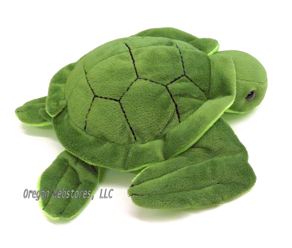 Turtle Max Reptile Gifts Velvety Green Little Plush Sea Turtle