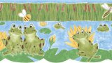 Froggy Friends Wall Border