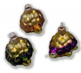 Tiny Blown Glass Turtle Ornaments, set/3