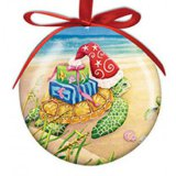 Ball Sea Turtle Christmas Ornament