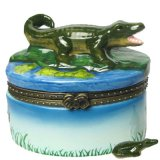 Trinket Box - Porcelain Alligator