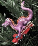 Kitty's Critters Dragon Ornament: Red Hot