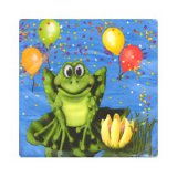 Frog/Alligator Swamp Party SM Napkins, pk/16