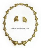 Sea Turtle Goldtone Link Necklace Set