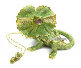 Frilled Lizard Jewel Box w/Necklace