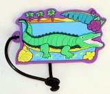 Alligator Vinyl Luggage Tag