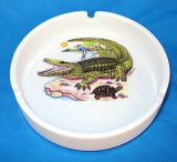 Alligator Ceramic Ashtray