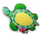Sea Turtle Sculpted Rubber Magnet