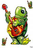 Guitar Turtle Decal