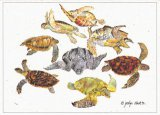 Sea Turtles Watercolor Blank Card