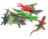 Assorted Vinyl Alligators and Crocodiles (12)