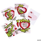Snappy Alligator Valentine Cards (12)