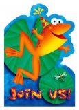 "Leap Frog Friends: Frog ""Join Us!"" Invitations (8)"