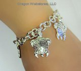 Silver Tone Sea Turtle Toggle Bracelet