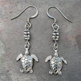 Sea Turtle Silver-plated Earrings