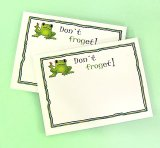 """Don't Froget"" Frog Sticky Notes"