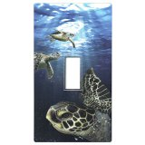 Swimming Sea Turtles Light Switch Cover Sticker