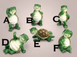 Funny Frolicking Turtle Figurines