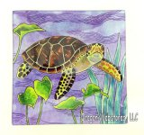 Blue Glass Sea Turtle Tray