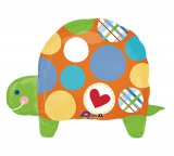 Polka Dot Turtle Shape Foil Balloon