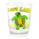 """I Got Laid"" Sea Turtle Shot Glass"