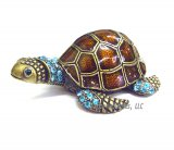 Crystal and Enamel Sea Turtle Jewel Box