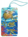 3D Sea Turtle Luggage Tag