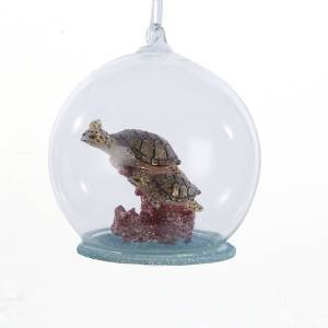 Glass Bubble Sea Turtle Ornament