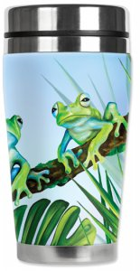 Mugzie Green Frog Travel Mug