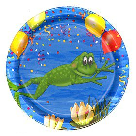 Frog/Alligator Swamp Party Small Plates, pk/8