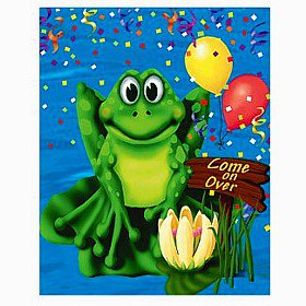 Frog/Alligator Swamp Party Invitations, pk/8