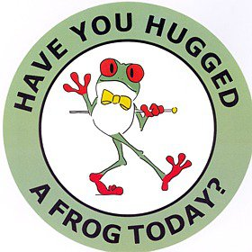 """Have You Hugged A Frog Today?"" Decal"