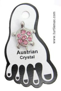 Crystal Turtle Toe Ring - Pink