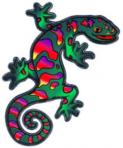 Die-Cut Mylar Gecko Sticker