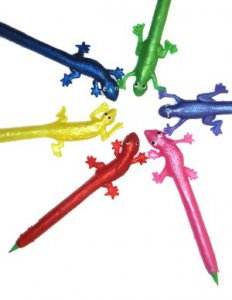 Squishy Scribbler Lizard Pen (one pen, assorted colors)