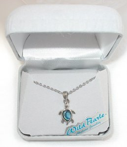 Mother-of-Pearl Sea Turtle Necklace
