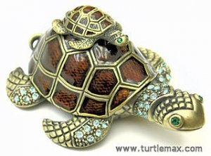 Sea Turtle w/Baby Jewel Box