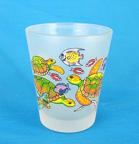 Sea Turtles Frosted Shot Glass