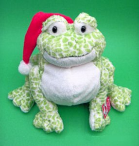 Smiling Holiday Bullfrog