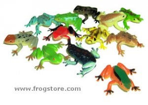 Realistic Plastic Frogs (10)