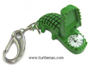 Green Alligator Clip-On Watch
