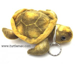 Plush Golden Sea Turtle Keychain