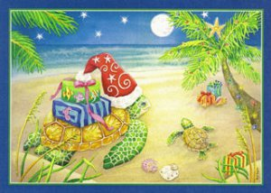 Love & Joy Sea Turtle Christmas Cards, box/16