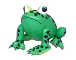 "19"" Inflatable Green Frog"
