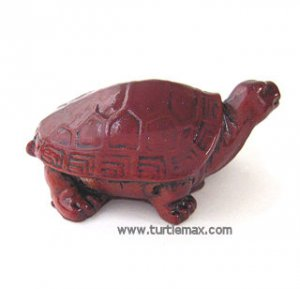 Small Chinese Red Lacquer Turtle