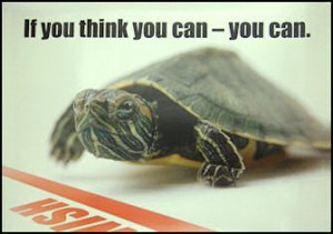 """If You Think You Can"" Turtle Poster"
