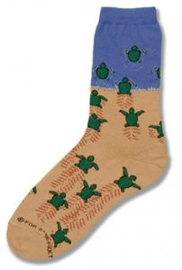 Sea Turtle Hatchlings Socks