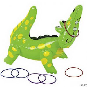 Inflatable Gator Ring Toss Game