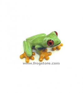 """Clinger"" Red-Eyed Mini Porcelain Frog"